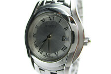 Auth GUCCI 5500L Silver Dial, Date Stainless Steel Quartz Women's Watch GW6161L