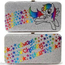 My Little Pony Rainbow Dash Always Chasing Stars Hardcase Wallet Grey Hasbro NWT