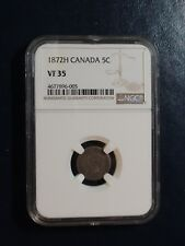 1872H Canada Five Cents NGC VF35 SILVER 5C Coin PRICED TO SELL QUICKLY!