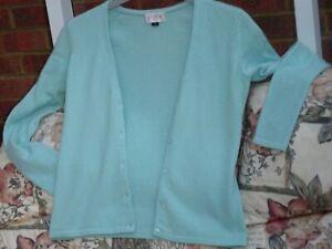Pure  Light Blue 100 % Cashmere V Neck Cardigan