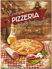 Pizzeria, Classic Italian Food Pizza Cafe Bistro Kitchen, Gift Fridge Magnet Art