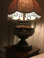 Large Ceramic & Wooden table lamp and matching shade