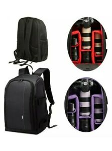 Professional Digital Camera Waterproof Backpack DSLR Lens Laptop FREEPOST