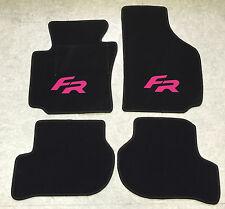 Autoteppich Fußmatten für Seat Leon 1P FR schwarz pink ab 05' Formula Racing Neu