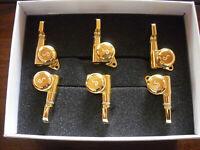Schaller M6 Locking 19,5 Tuners 135° 6 links Gold