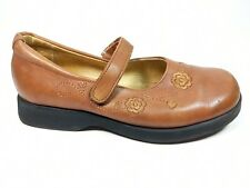 Andanines Girls Brown Leather Mary Jane Shoes Uk 12 Eu 30