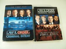 LAW & ORDER CRIMINAL INTENT FIRST & SECOND YEAR COMPLETE DVD SEASONS