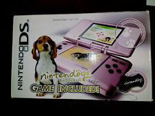 NINTENDO DS  NINTENDOGS EDITION PINK HANDHELD SYSTEM,MANUAL,CHARGER & CARRY CASE