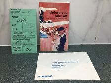 B.O.A.C. Before You Take Off Booklet 1966 Boarding Pass