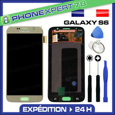 VITRE TACTILE + ECRAN LCD ORIGINAL SAMSUNG GALAXY S6 G920F OR GOLD + OUTILS