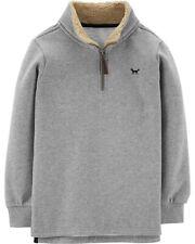 Carter's Big Boy's Half-Zip Pullover Sweater - Heather Gray - Size 7