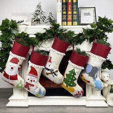 CHRISTMAS SANTA SNOWMAN BEAR STOCKING SOCK GIFT BAG HANGING PARTY TREE DECOR