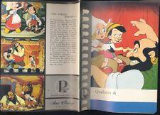 Quaderno,Pinocchio ,Walt Disney, Cartiere Paolo Pigna   R