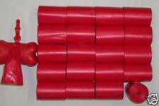 900 RED PET DOG WASTE PICK UP POOP BAGS CORELESS / FREE RED DISPENSER