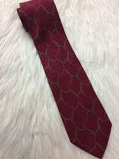 GIORGIO ARMANI 100% Silk Burgundy Dark Red Tie Made in Italy
