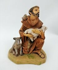 "Roman Fontanini St Francis Figurine 1994 Patron Saint of Animals 4.25"" tall Euc"