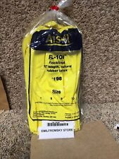 """Ansell 87-198 Chemical Resistant Gloves, Size 10, 12""""L, Yellow 12Pk Wow! 1Rl38"""