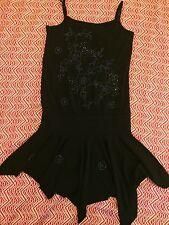 Jeanswest Jeans West Size XS 6 - 8 Womens Dress Black Summer Ladies Beaded