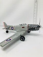 Vintage Metal Airplane Toy Metal Plastic Wheels