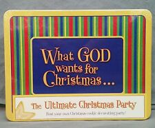 What God Wants for Christmas Party Nativity Cookie Decorating Tin Gift Set NEW
