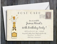 50 MAGNETIC INVITATIONS Personalised 18th 21st 30th 40th 50th 60th Party Invites