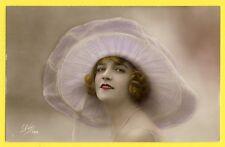 cpa Fantaisie ART DECO Superbe FEMME ÉLÉGANTE au CHAPEAU Woman with Hat