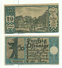 OLD GERMANY EMERGENCY PAPER MONEY - NOTGELD Berlin 1921 50 Pf Townships 19