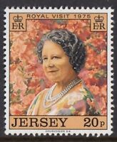 JERSEY MNH UMM STAMP SET 1975 SG 123 ROYAL VISIT QUEEN MOTHER