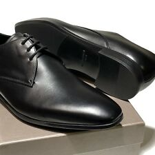 Giorgio Armani Leather Oxford 8 41 Men's Black Formal Dress Shoes Casual Lace-up