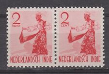 Nederlands Indie Indonesie 298 MNH pair Netherlands Indies 1941 Inheemse dansers