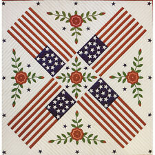 PATRIOTIC ROSE QUILT QUILTING PATTERN, Applique From The City Stitcher NEW