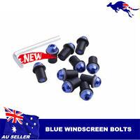 10x Blue Windscreen Bolts Screws Set 4 Kawasaki ZX10R ZX6R ZX636 ZX9R EX250 500