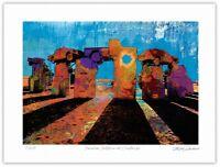 "Carhenge Pop Art Giclée Limited Edition Art Print 12x16"" Artist Stephen Chambers"