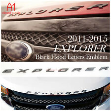 Black Dark Graphite Hood Emblem Letters Fits 2011 - 15 Ford Explorer Sport gloss