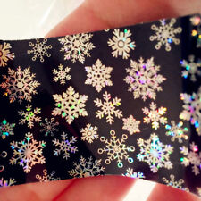 Nail Art Transfer Foils Sticker Christmas Snowflake Holographic Paper Tip Xmas