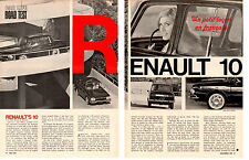 1967 RENAULT 10 ~ ORIGINAL 6-PAGE ROAD TEST / ARTICLE / AD