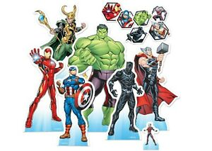 Marvel Avengers Official Table Top Cardboard Cutouts Party Pack of 7 - Superhero