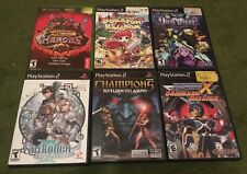 PS2 XBOX Video Game Lot Dokapon Kingdom Mega Man Suikoden Playstation