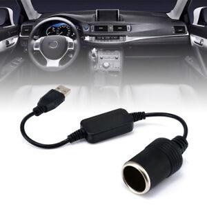USB Port to12V 8W Car Cigarette Lighter Socket Adapter Charger Male to Female TQ