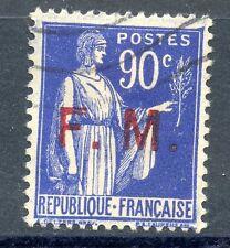 TIMBRE DE FRANCE DE FRANCHISE OBLITERE N° 9 TYPE PAIX