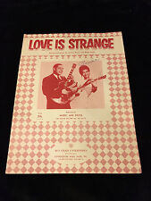MICKEY AND SYLVIA-SHEET MUSIC- LOVE IS STRANGE-1957