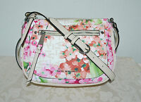 NWT $59 DANA BUCHMAN Signature Floral Print Faux Leather Cross Body Bag