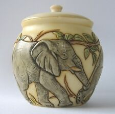 Top and Tail - NIB - Elephants Jardinia Trinket Pot - MPS Harmony Kingdom