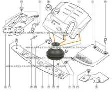 Engine Cover Clip 1piece For Renault Clio Megane Modus Kangoo Scenic 1.5 1.9 DCI