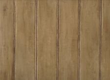 Cocoa Brown Untextured Faux Beadboard Cracker Barrel Sure Strip Wallpaper KE5095