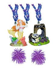7er Set aquariumdeko SIRENA Decorazione per Acquario Barile riccio di mare