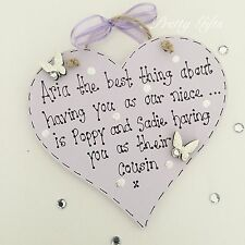 Personalised Only Thing Better Niece Nephew Cousin Heart Plaque Keepsake Gift