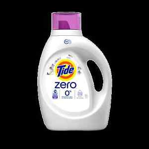 Tide Zero Soft Lavender Liquid Laundry Detergent 64 Loads 92 FL OZ HE Turbo P&G