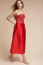 New Anthropologie BHLDN Briony Dress Sz 8 Coral Red Monique Lhuillier stunning