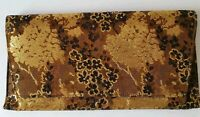 Vintage 1960's Lennox Bags Metallic Fabric Clutch Purse Gold Copper & Brown MINT